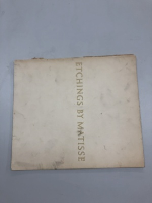 Etchings by Matisse / The Museum of Modern Art with an Introduction by William S. Lieberman