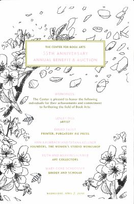 [2010 Center for Book Arts' annual benefit program and auction guide]