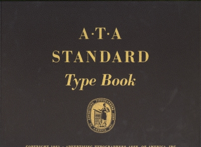 A.T.A. standard type book-Volume 1 of 3 / Advertising Typographers Association of America, Inc.