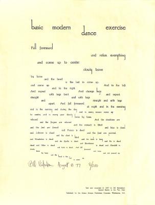 Basic Modern Dance Exercise / [Bill Niederkorn]