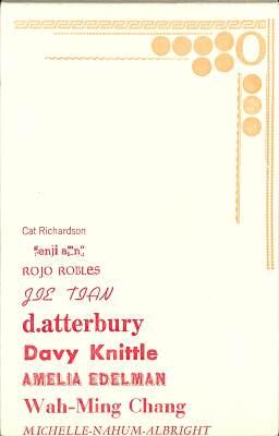 Letterpress Printing & Fine Press Publishing Seminar For Emerging Writers - November 18, 2012 / Michelle Nahum Albright, Genji Amino, D. Atterbury, Wah-Ming Chang, Amelia Edelman, Davy Knittle, Cat Richardson, Rojo Robles, Jie Tian
