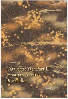 Catalogue 233 Part II: Japanese, Chinese, & Korean Books, Manuscripts, & Scrolls / Jonathan A. Hill, Bookseller, Inc.