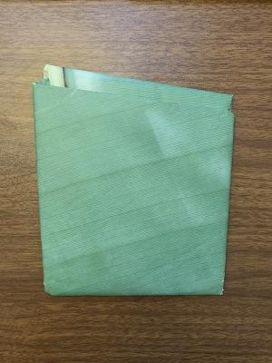 Image of work folded up