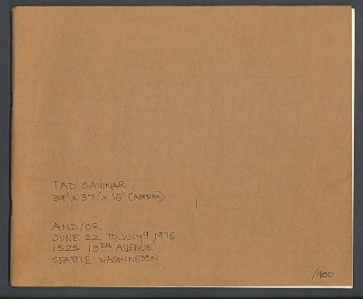 39' x 37' x 16' (approx) / Tad Savinar