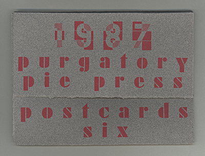 1987 Purgatory Pie Press Postcards Six / Lisa Blaushild; Miriam Schaer