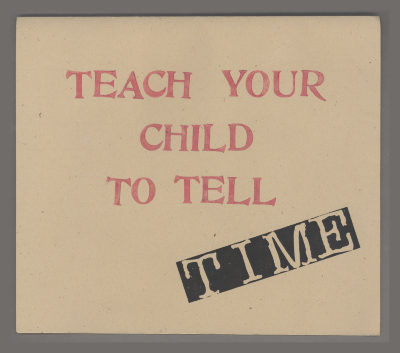 Teach Your Child to Tell Time / Dave Hornor