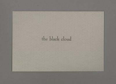 The Black Cloud / James Walsh