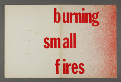 Burning Small Fires / Bruce Nauman