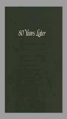 80 Years Later: The 80th Anniversary Exhibition of the Guild of Book Workers/ Mary Lynn Ritzenthaler; Pamela Spitzmueller