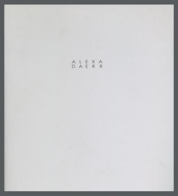 Alexa Daerr: Buchobjekte, Wandobjekte / Alexa Daerr; Andreas Denk