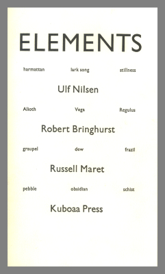 Elements / Ulf Nilsen; Robert Bringhurst; Russell Maret
