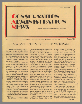 Conservation Administration News / University of Wyoming Libraries
