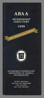 ABAA Membership Directory / Antiquarian Booksellers' Association of American, Inc.