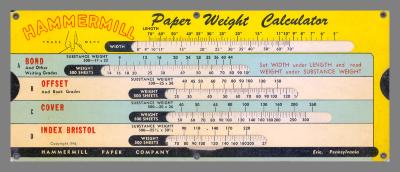 Paper Weight Calculators (set of 2) / Hammermill Paper Company