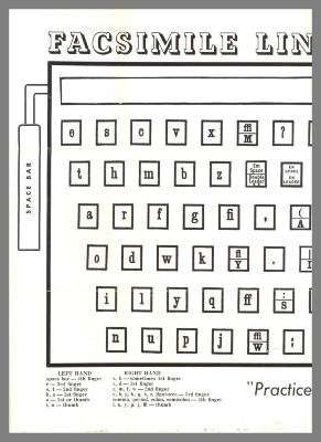 Facsimile Linotype Keyboard / N.Y. Mergenthaler Linotype School