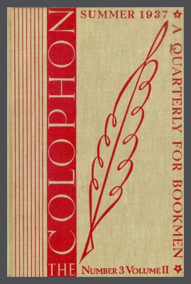 The Colophon New Series: A Quarterly for Bookmen, vol. 2, no. 3 / Frederick B. Adams, Jr., Elmer Adler, Alfred Stanford, John T. Winterich, eds.