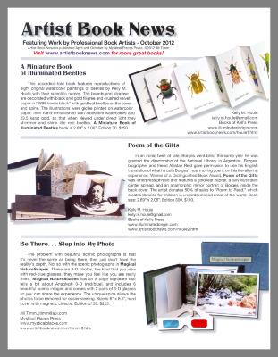 Artist Book News / Mystical Places Press