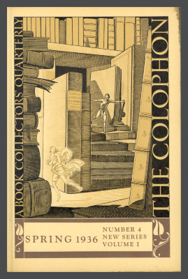 The Colophon New Series: A Quarterly for Bookmen, vol. 1, no. 4 / Elmer Adler, Alfred Stanford, John T. Winterich, eds.