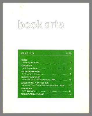 Book Arts / Center for Book Arts