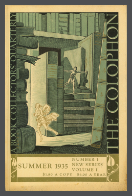 The Colophon New Series: A Book Collectors' Quarterly, vol. 1, no. 1 / Elmer Adler, Alfred Stanford, John T. Winterich, eds.