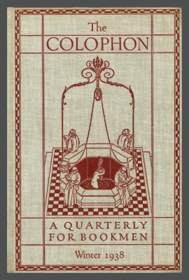 The Colophon New Series: A Quarterly for Bookmen, vol. 3, no. 2 / Frederick B. Adams, Jr., Elmer Adler, Alfred Stanford, John T. Winterich, eds.