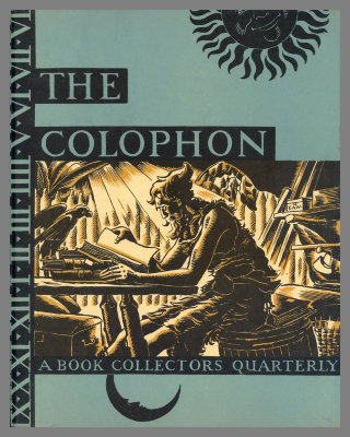 The Colophon: A Book Collectors Quarterly / Elmer Adler and John T. Winterich, eds.