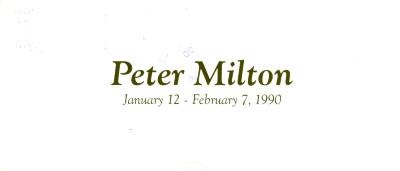 Peter Milton / Peter Milton