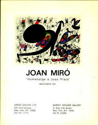 """Joan Miró: """"Homenatge a Joan Prats"""" / Joan Miró"""