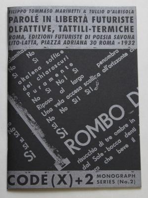 Code(x) + 2 Monograph Series, No. 2: Parole In Liberta Futuriste / Artists Rights Society