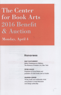 [2016 annual benefit program and auction guide]