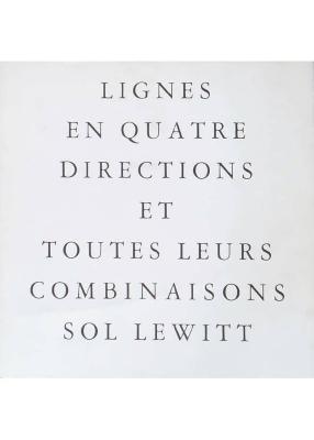 Lignes en Quatre Directions et Toutes Leurs Combinaisons / Sol LeWitt