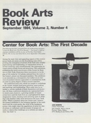 Book Arts Review, Volume 3, Number 4