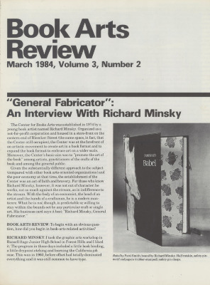 Book Arts Review, Volume 3, Number 2