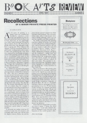 Book Arts Review, Volume 6, Number 2
