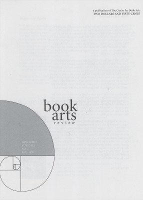 Book Arts Review, Volume 1, Number 1 (new series)