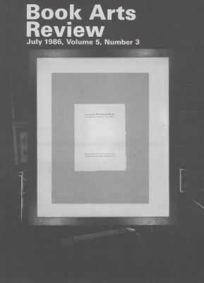 Book Arts Review, Volume 5, Number 3